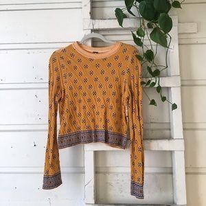 Free People mustard sweater-top